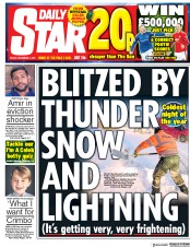 Daily Star (UK) Newspaper Front Page for 1 December 2017