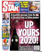 Daily Star front page for 1 January 2021