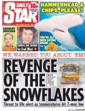 Daily Star (UK) Newspaper Front Page for 1 February 2019