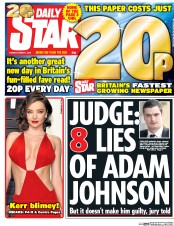 Daily Star (UK) Newspaper Front Page for 1 March 2016