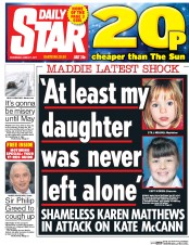 Daily Star (UK) Newspaper Front Page for 1 March 2017