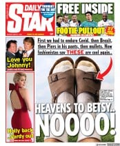Daily Star (UK) Newspaper Front Page for 1 March 2021