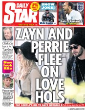 Daily Star (UK) Newspaper Front Page for 1 April 2015
