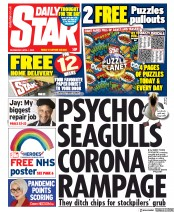 Daily Star (UK) Newspaper Front Page for 1 April 2020