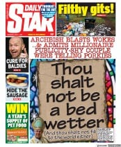 Daily Star (UK) Newspaper Front Page for 1 April 2021