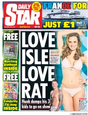 Daily Star (UK) Newspaper Front Page for 1 July 2017