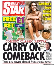 Daily Star () Newspaper Front Page for 1 July 2019