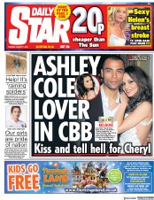 Daily Star (UK) Newspaper Front Page for 1 August 2017