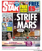 Daily Star (UK) Newspaper Front Page for 1 August 2020