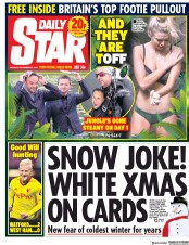Daily Star (UK) Newspaper Front Page for 20 November 2017