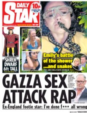 Daily Star (UK) Newspaper Front Page for 20 November 2018
