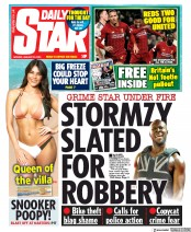 Daily Star (UK) Newspaper Front Page for 20 January 2020