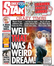Daily Star front page for 20 January 2021