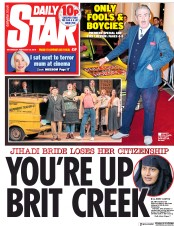 Daily Star () Newspaper Front Page for 20 February 2019