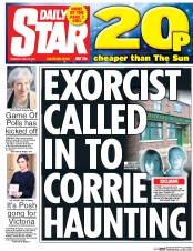 Daily Star (UK) Newspaper Front Page for 20 April 2017