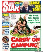 Daily Star front page for 20 May 2020