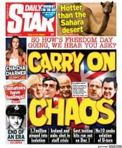 Daily Star () Newspaper Front Page for 20 July 2021