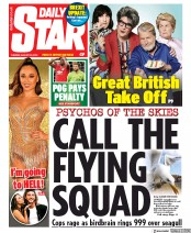Daily Star (UK) Newspaper Front Page for 20 August 2019
