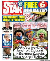 Daily Star front page for 21 October 2020