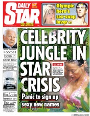 Daily Star (UK) Newspaper Front Page for 21 November 2014