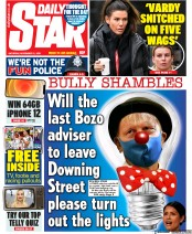 Daily Star front page for 21 November 2020
