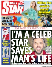 Daily Star (UK) Newspaper Front Page for 21 December 2018