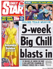 Daily Star (UK) Newspaper Front Page for 21 January 2019