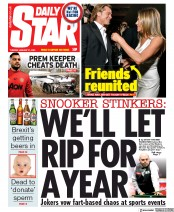 Daily Star (UK) Newspaper Front Page for 21 January 2020