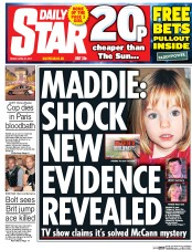 Daily Star (UK) Newspaper Front Page for 21 April 2017