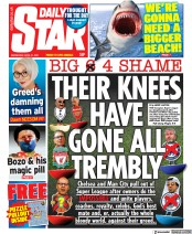 Daily Star front page for 21 April 2021