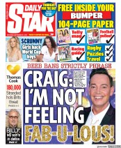 Daily Star (UK) Newspaper Front Page for 21 September 2019