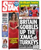 Daily Star front page for 21 September 2020