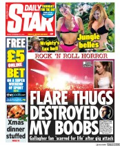 Daily Star (UK) Newspaper Front Page for 22 November 2019