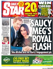Daily Star (UK) Newspaper Front Page for 22 December 2017
