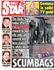 Daily Star (UK) Newspaper Front Page for 22 January 2019