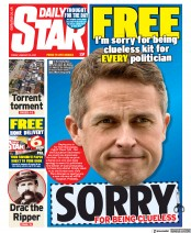 Daily Star front page for 22 January 2021