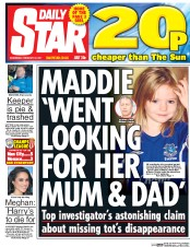 Daily Star (UK) Newspaper Front Page for 22 February 2017