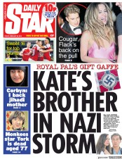 Daily Star (UK) Newspaper Front Page for 22 February 2019