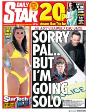 Daily Star (UK) Newspaper Front Page for 22 March 2018