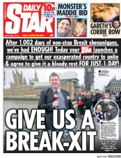 Daily Star () Newspaper Front Page for 22 March 2019