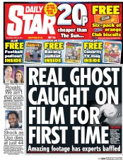 Daily Star (UK) Newspaper Front Page for 22 April 2017