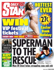 Daily Star (UK) Newspaper Front Page for 22 April 2019