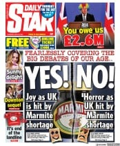 Daily Star front page for 22 April 2021