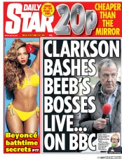 Daily Star (UK) Newspaper Front Page for 22 May 2015