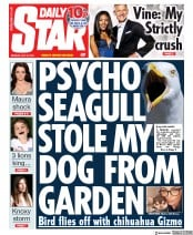Daily Star () Newspaper Front Page for 22 July 2019