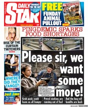 Daily Star () Newspaper Front Page for 22 July 2021