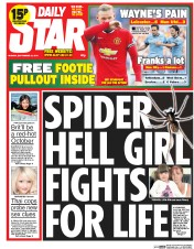 Daily Star (UK) Newspaper Front Page for 22 September 2014