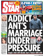 Daily Star (UK) Newspaper Front Page for 22 September 2017