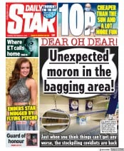 Daily Star front page for 22 September 2020