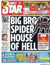 Daily Star (UK) Newspaper Front Page for 23 October 2014